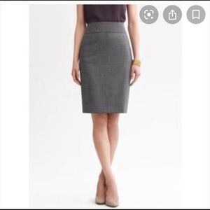 Charcoal Pencil Skirt with Pockets!